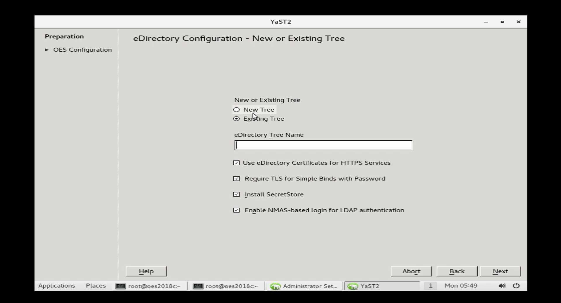 OES2018 既存 eDirectory へのインストール_a0056607_15531569.jpg