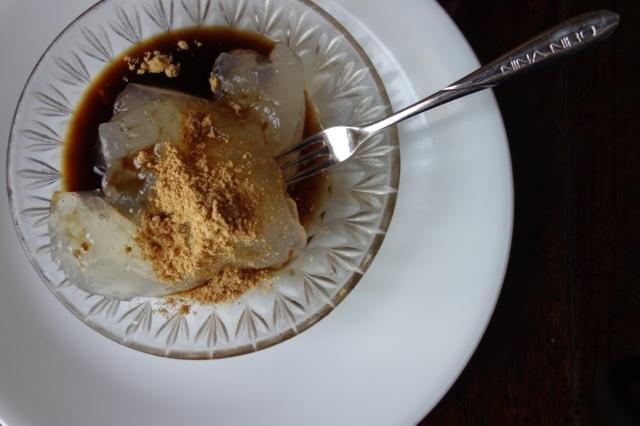 夏の食べ物。わらび餅と糠漬け。_d0101846_05235599.jpeg