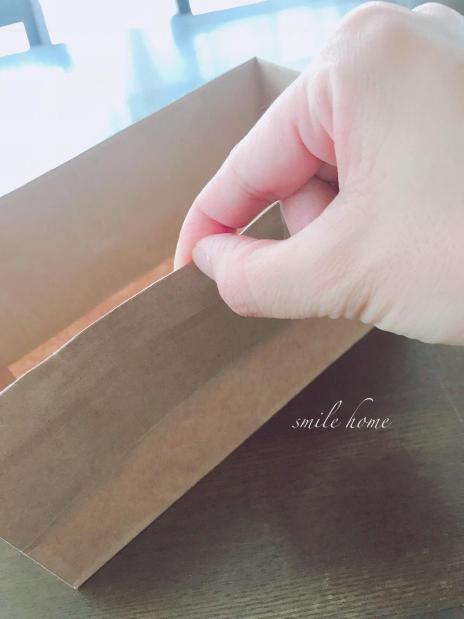 仮収納用の紙箱は爪でキッ!!_e0303386_14561490.jpg