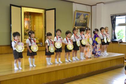 今日は、第二幼稚園の6月と7月生れのお誕生会でした。_d0353789_16173409.jpg