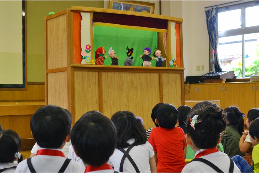 今日は、第二幼稚園の6月と7月生れのお誕生会でした。_d0353789_16175730.jpg