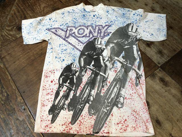 7月14日(土)入荷! 90s〜PONY 総柄 Tシャツ!_c0144020_13230382.jpg
