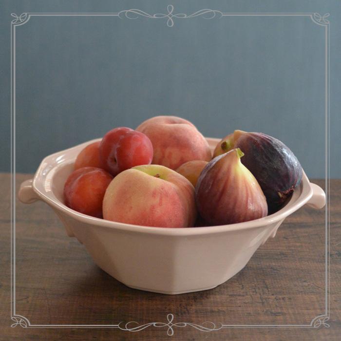 ◆フランスアンティーク*ベビーピンクのサラディエ&桃とプラムといちじくと♪_f0251032_15354677.jpg