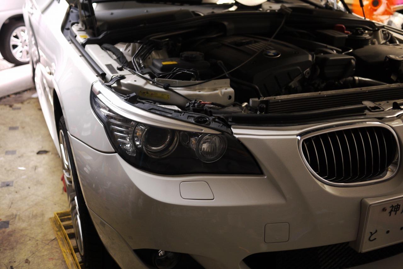 BMW E61 電動ファンうるさい まわりすぎ オーバーヒート警告等_d0171835_16132883.jpg