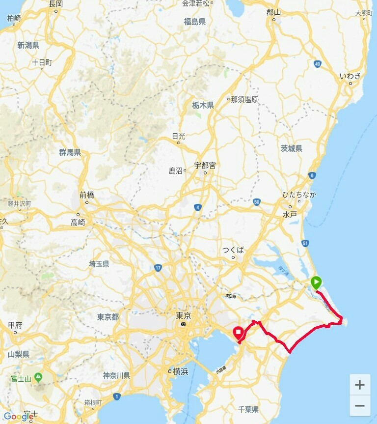 82日目【神栖−千葉市】やっと海が見えました!_e0201281_04424018.jpg