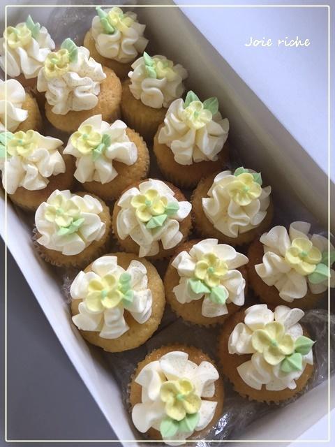 プティバタークリームカップケーキのオーダー_d0380923_05275190.jpg