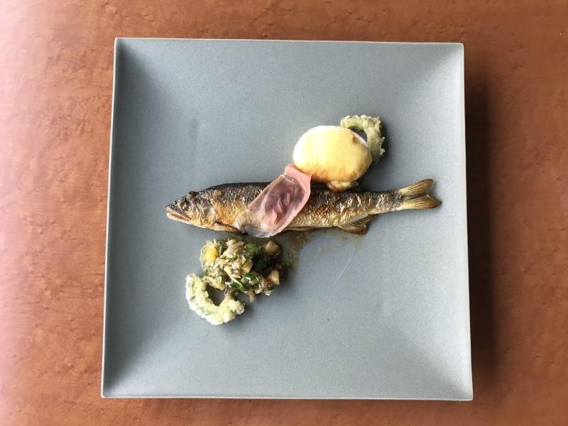 7月の料理「鮎・生ハム・ゆで卵」_d0177560_13535228.jpg