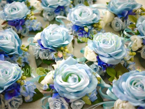 青いコサージュ_a0135999_02143255.jpg