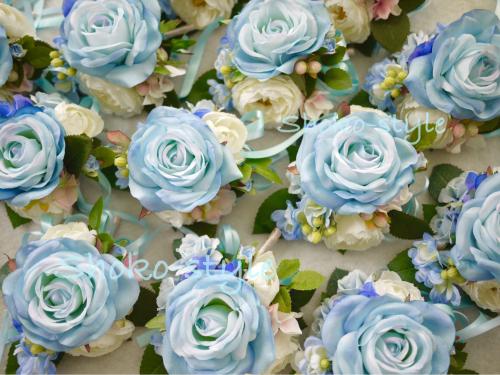 青いコサージュ_a0135999_02143461.jpg