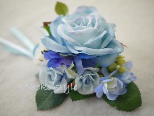 青いコサージュ_a0135999_02143508.jpg