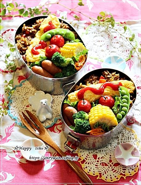 焼きカレーオムレツ弁当と今夜のおうちごはん♪_f0348032_18344024.jpg