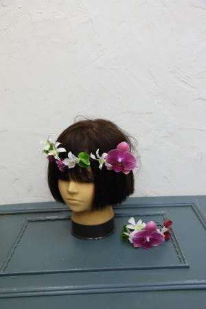 7月18日生花レッスン ウェディングアイテム、花かんむりとかリストレットとか_a0042928_15015757.jpg