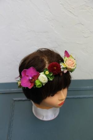 7月18日生花レッスン ウェディングアイテム、花かんむりとかリストレットとか_a0042928_15021185.jpg