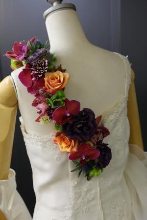 7月18日生花レッスン ウェディングアイテム、花かんむりとかリストレットとか_a0042928_15023702.jpg