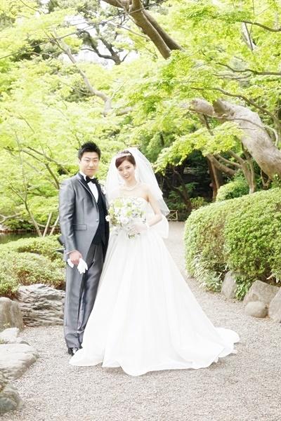 卒花嫁様 八芳園の花嫁様、4月の新緑の中に _a0042928_19593057.jpg
