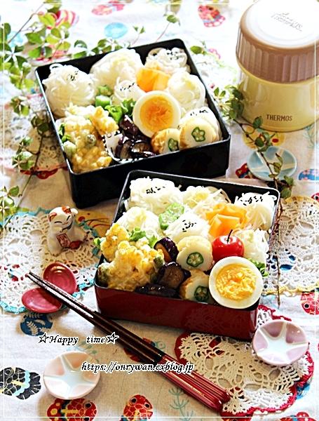 トウモロコシと枝豆の天ぷら素麺弁当と今夜は鰻丼♪_f0348032_18114936.jpg
