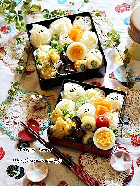 トウモロコシと枝豆の天ぷら素麺弁当と今夜は鰻丼♪_f0348032_18115690.jpg