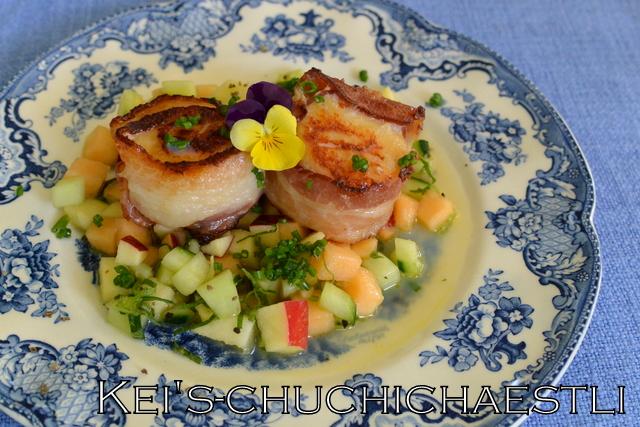 ホタテのソテーと夏風ビネグレット添えと晩御飯と日本で買ったおもしろいもの_c0287366_20574768.jpg