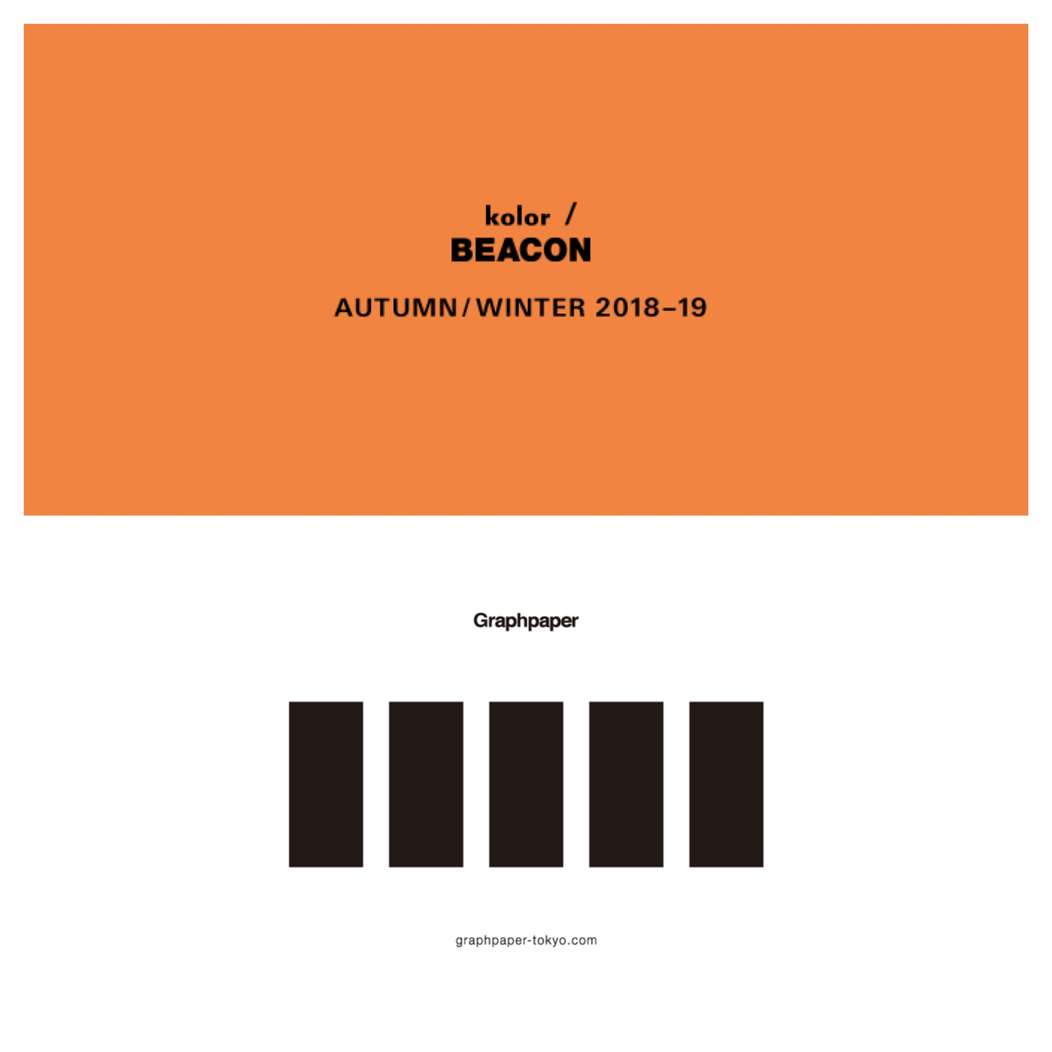 kolor/ BEACON & Graphpaper 2018 A/W COLLECTION!!_c0079892_19511476.jpg