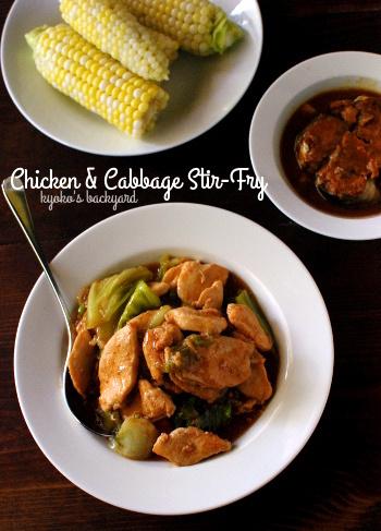 鶏肉とキャベツの炒めもの / グリーンカード到着_b0253205_04305045.jpg