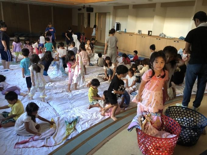 お泊り保育 起床 - 川崎ふたば幼稚園ブログ