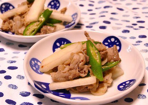 クミン風味の長芋肉炒め~スパイス大使_f0191248_05352593.jpg