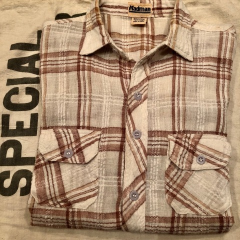 "1970s "" Madman \"" 100% INDIA COTTON - CALIFORNIAN - MADRAS CHECK S/S SHIRTS ._d0172088_17411563.jpg"