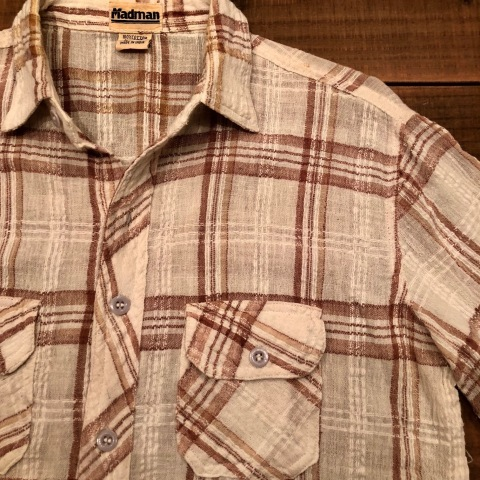 "1970s "" Madman \"" 100% INDIA COTTON - CALIFORNIAN - MADRAS CHECK S/S SHIRTS ._d0172088_17524096.jpg"