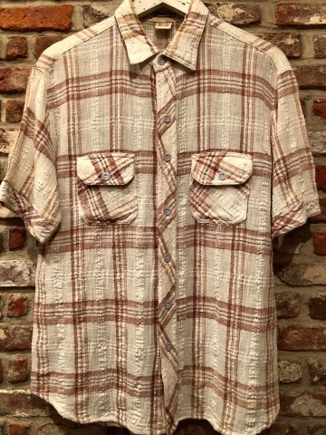 "1970s "" Madman \"" 100% INDIA COTTON - CALIFORNIAN - MADRAS CHECK S/S SHIRTS ._d0172088_17575121.jpg"
