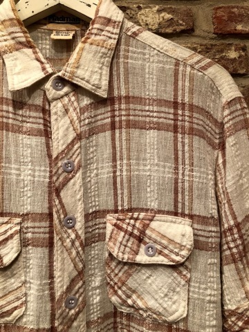 "1970s "" Madman \"" 100% INDIA COTTON - CALIFORNIAN - MADRAS CHECK S/S SHIRTS ._d0172088_17592190.jpg"