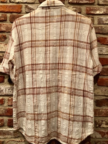 "1970s "" Madman \"" 100% INDIA COTTON - CALIFORNIAN - MADRAS CHECK S/S SHIRTS ._d0172088_18000702.jpg"