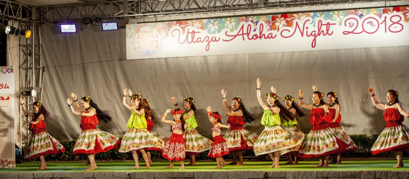 UTAZU ALOHA NIGHT 2018 芝生広場ステージ ①_d0246136_16400539.jpg