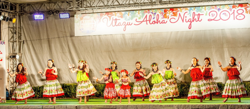 UTAZU ALOHA NIGHT 2018 芝生広場ステージ ①_d0246136_16401852.jpg