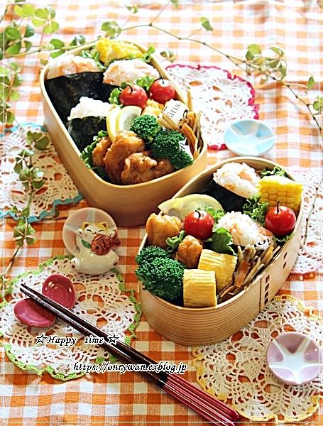 鮭の混ぜおむすび弁当と角食♪_f0348032_18023047.jpg