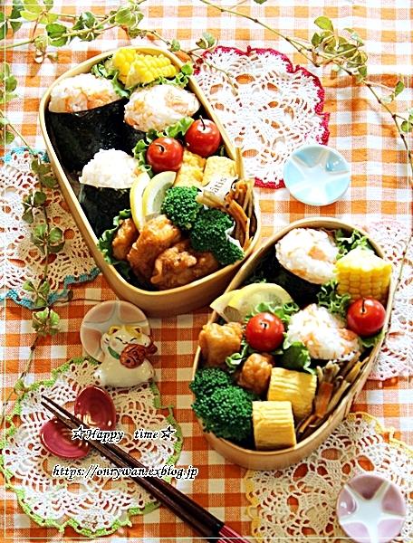鮭の混ぜおむすび弁当と角食♪_f0348032_18023884.jpg