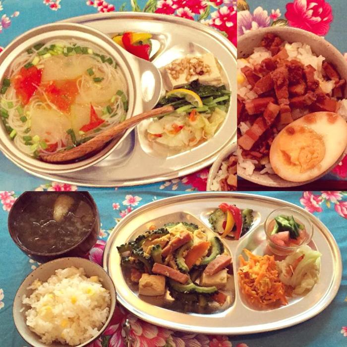 台湾の懐かしかわいい花柄食器と、アルミの器 _f0167281_14283065.jpg