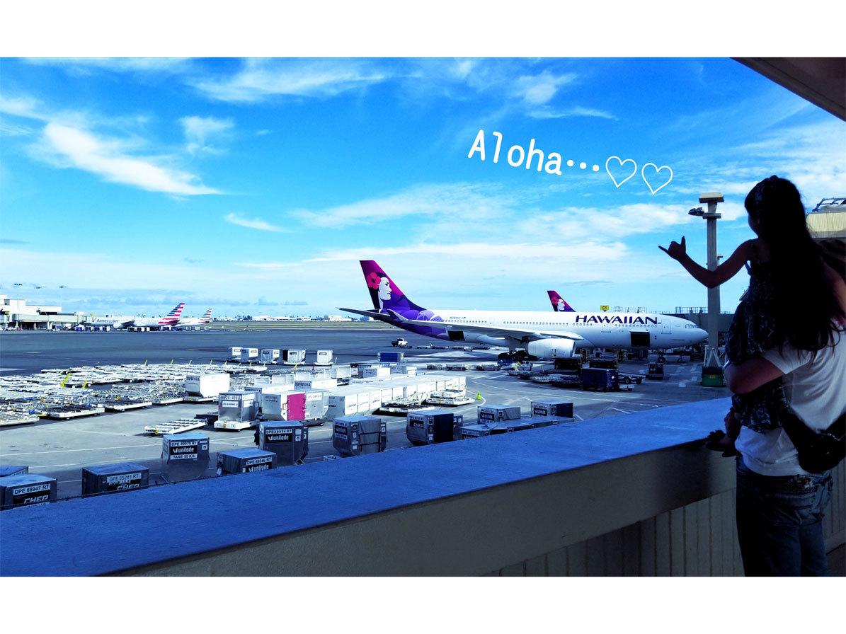 Hawaii…♡6♡ (帰り。空港で卒業生chanに☆)_d0224894_01392948.jpg