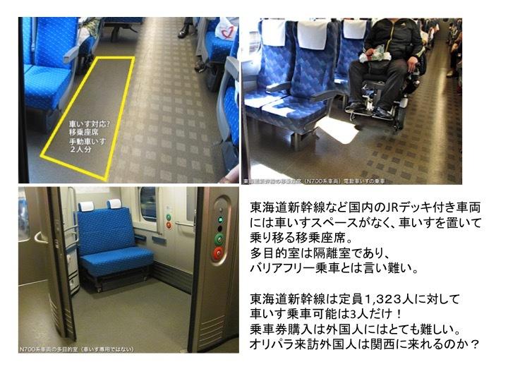 バリアフリーの課題2 新幹線や特急列車の車いすスペース_c0167961_13392360.jpg