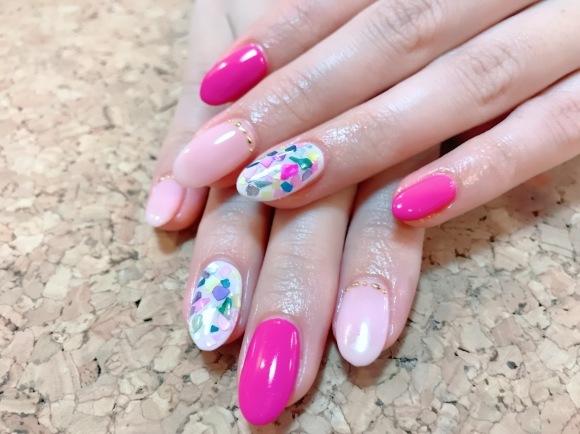 Colorful Shell Nail_a0239065_13255383.jpg