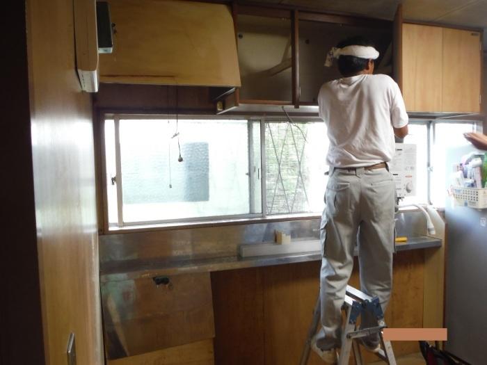 システムキッチンへの取替え ~ 古いキッチン取外し。_d0165368_01371816.jpg