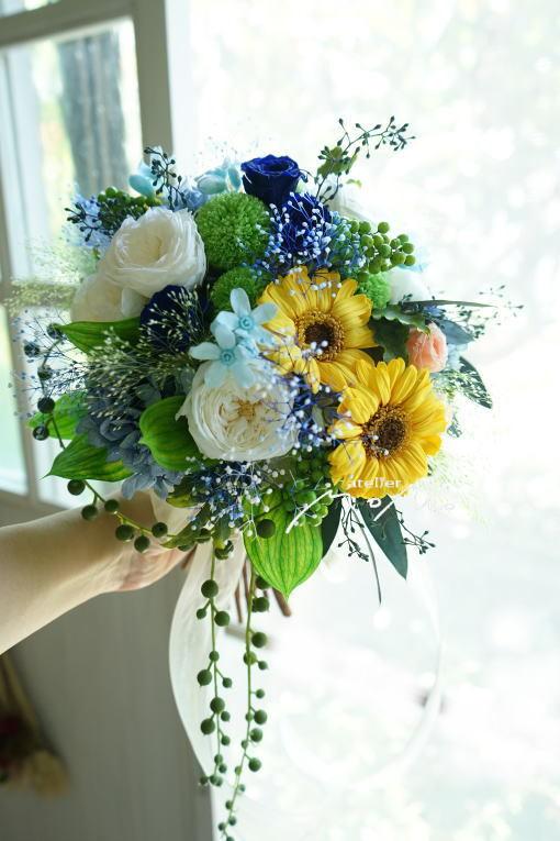 #クラッチブーケ 沖縄挙式に!_a0136507_22531635.jpg