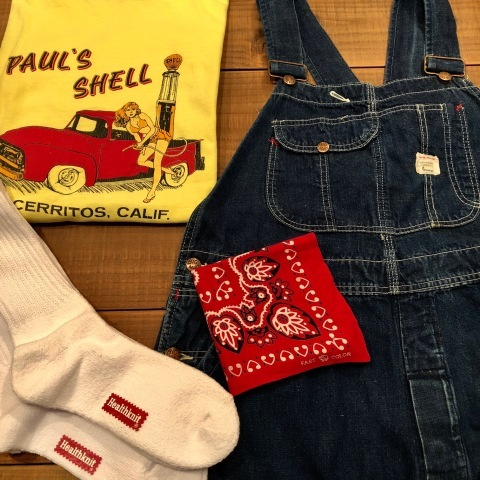 "Early 1960s "" BIG MAC - UNION MADE - \"" VINTAGE - LOW BACK style - DENIM OVER ALL ._d0172088_14415399.jpg"