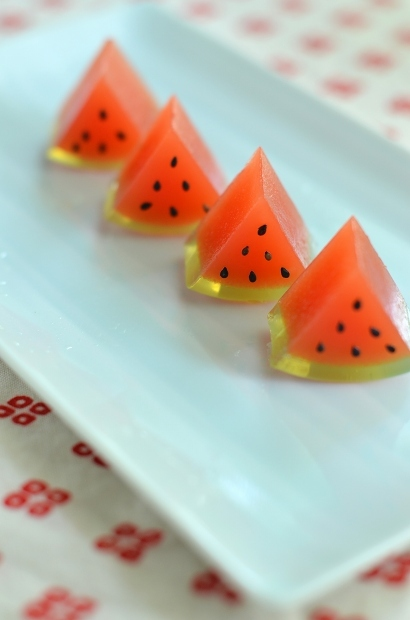 スイカの日のスイカ寒天  Homemade Watermelon Agar Sweets_d0025294_19002270.jpg