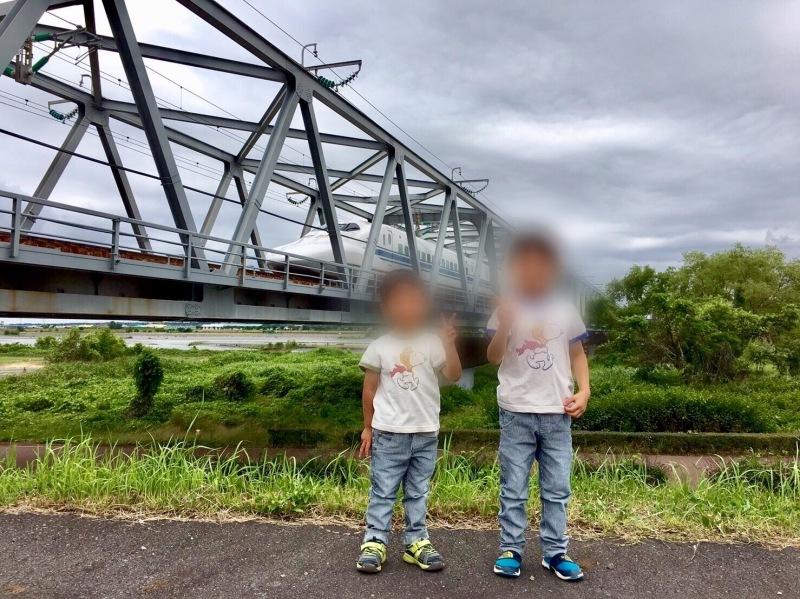 大井川橋を通過する東海道新幹線_d0367998_12344830.jpg