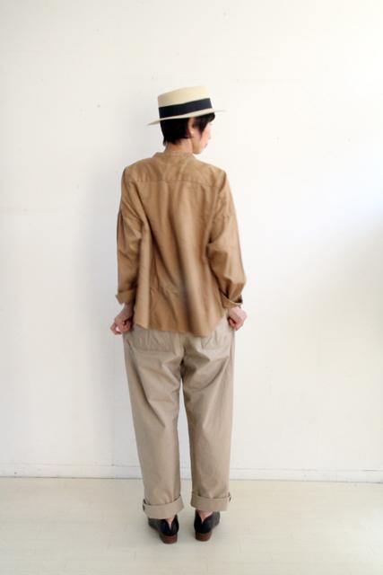 ノーカラー切替ポケットシャツ_f0215708_14262577.jpg