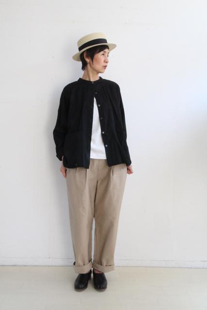 ノーカラー切替ポケットシャツ_f0215708_14262790.jpg