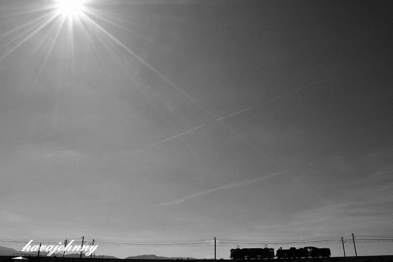 逃げる太陽~北びわこ号送り込み回送~_c0173762_18582048.jpg