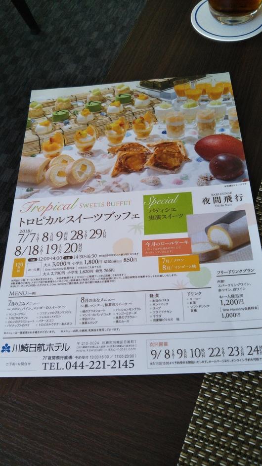 川崎日航ホテル 夜間飛行 トロピカルスイーツブッフェ_f0076001_22405948.jpg