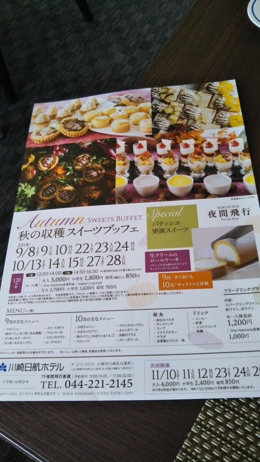 川崎日航ホテル 夜間飛行 トロピカルスイーツブッフェ_f0076001_23253569.jpg