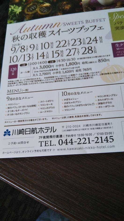 川崎日航ホテル 夜間飛行 トロピカルスイーツブッフェ_f0076001_23263434.jpg